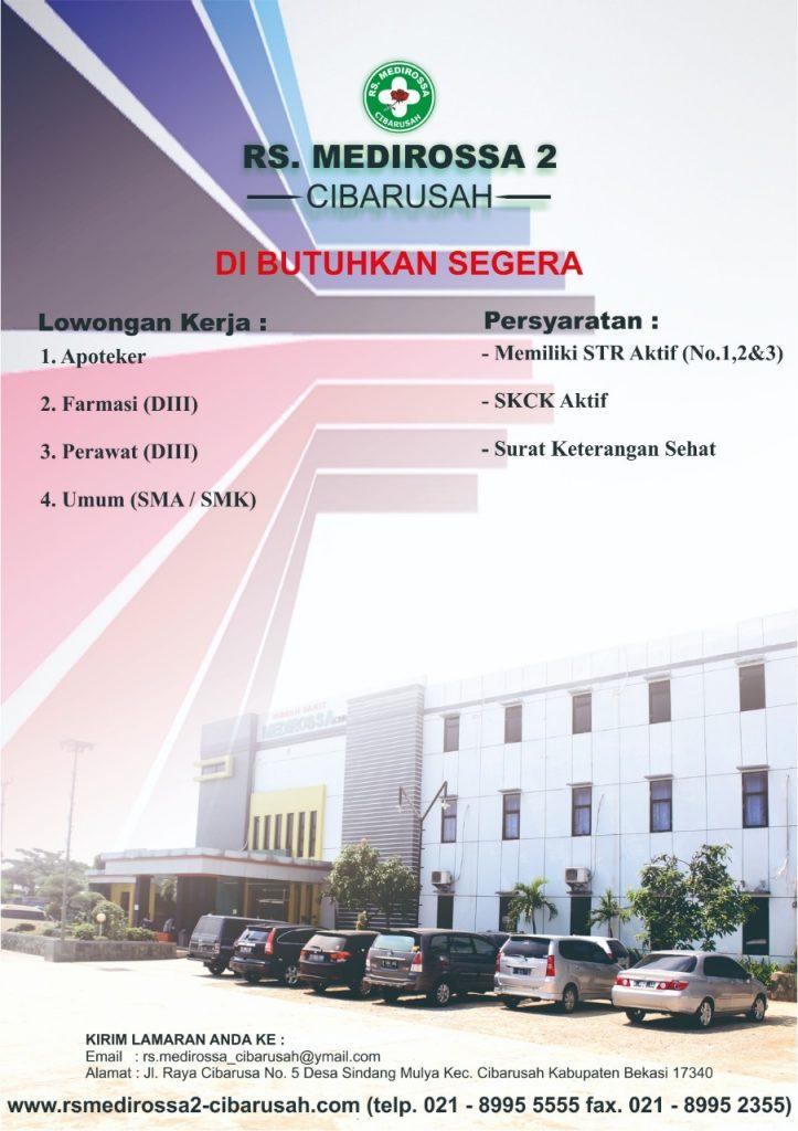 RS Medirossa 2 Cibarusah (Apoteker, Farmasi, Perawat, dan Umum)