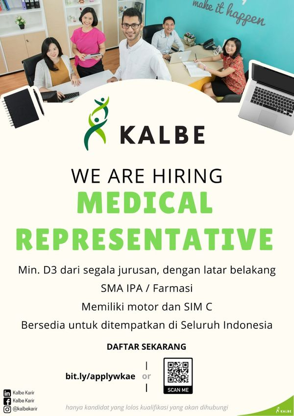 PT Kalbe Farma (Medical Representative)