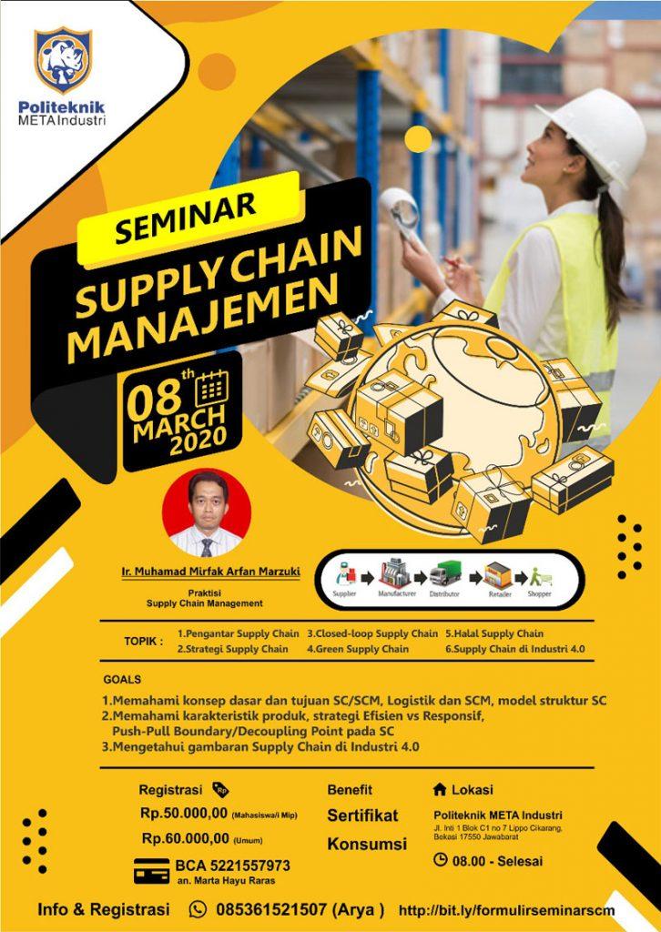 Seminar Supply Chain Manajemen 8 Maret 2020