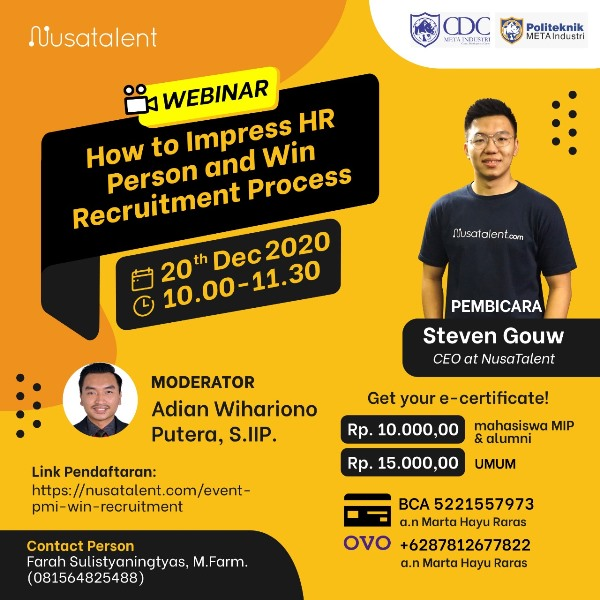 Webinar How To Impress HR Person and Win Recruitment Process